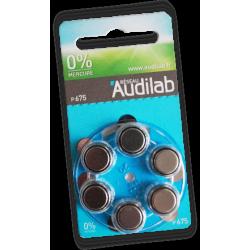 Pile 675 Zinc Air AUDILAB Bleu